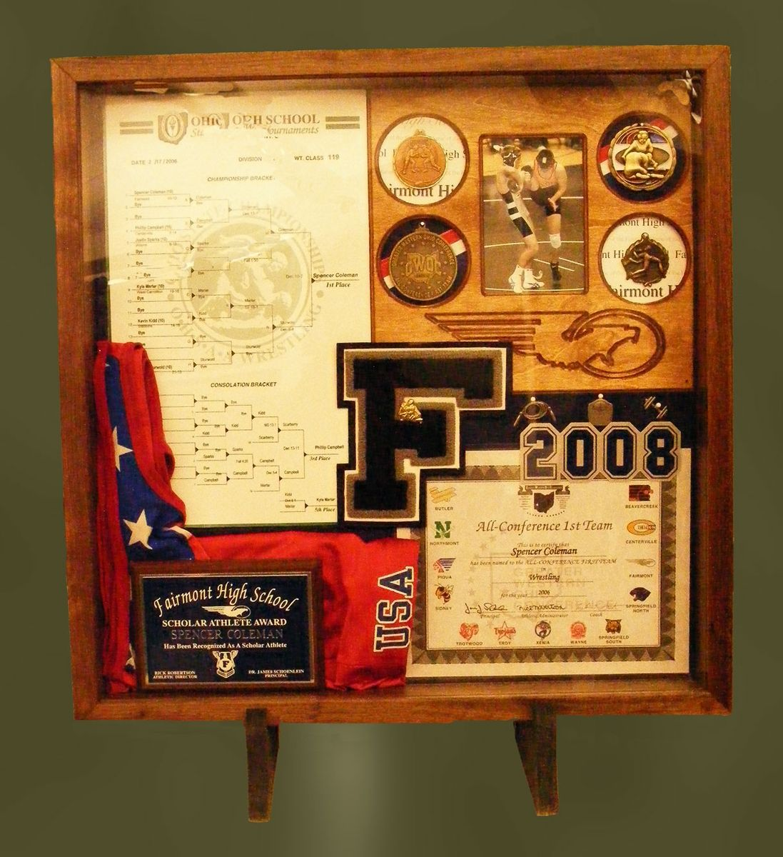 Wood Shadow Boxes for Sports Wood shadow box, Shadow