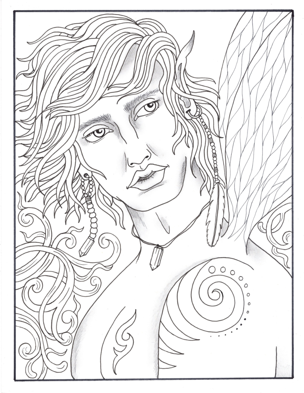 Legends Fantasy Men Pdf Coloring Book Mermen Wizards Fairies Kings Pixies Vampires Vikings Coloring Books Fantasy Male Male Fairy