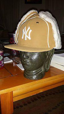 2b76d937 new era 59fifty ny yankees 7 3/8 cap dog ear winter hat trapper new ...