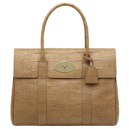 My FAVOURITE!!! MULBERRY BAYSWATER BAG  Biscuit Brown Soft Croc Print  Leather 2649f3dacad9b