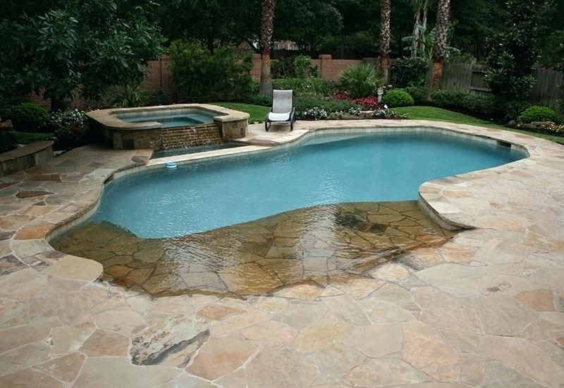 Beach Entry Pool Cost Natural Free Form Swimming Pools Design Designs