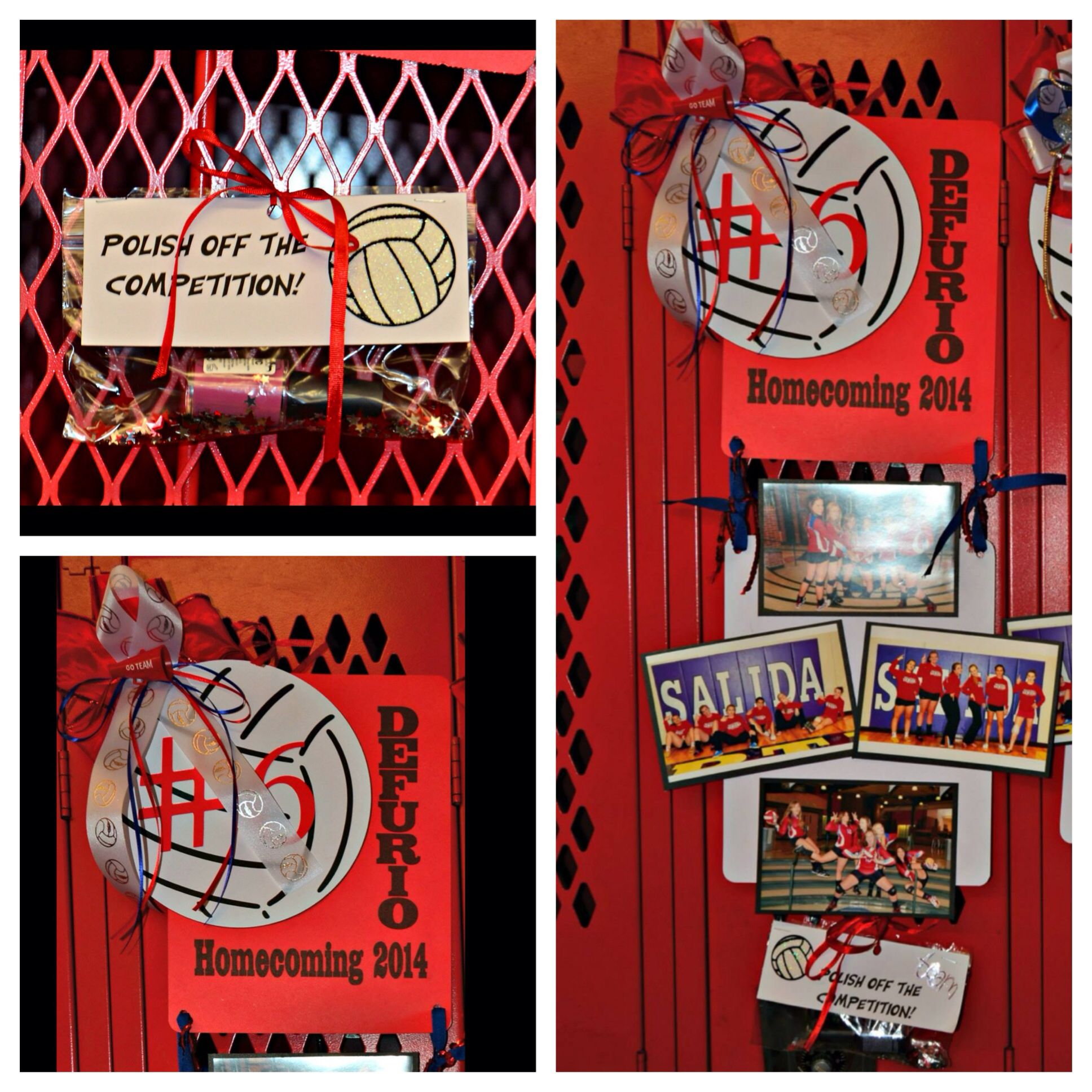 Homecoming Locker Signs For Senior Volleyball Players With Pictures Of The Seniors During Th Volleyball Locker Decorations Locker Decorations Volleyball Locker
