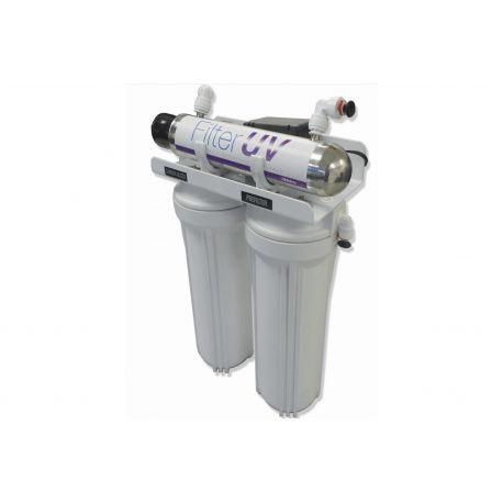 PURIFICADOR DE AGUA Tres pasos con UV 4 litros x min Filtros Purificadores De Agua Bajo-Tarja FILTERUV Hidroclear