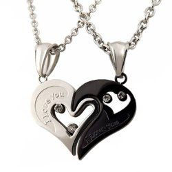 His And Hers Heart Shape I Love You Necklaces 2 Piece 8 99 Deals Amazon His And Hers Necklaces His And Hers Jewelry Paired Jewelry