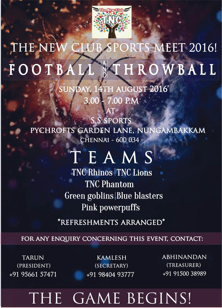Football Event Invitation  Graphic Artist