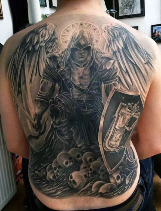 100 Guardian Angel Tattoos For Men - Spiritual Ink Designs ...