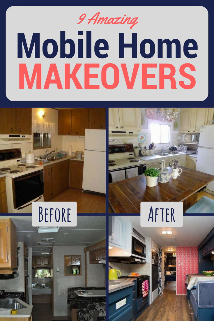 Before And After 9 Totally Amazing Mobile Home Makeovers