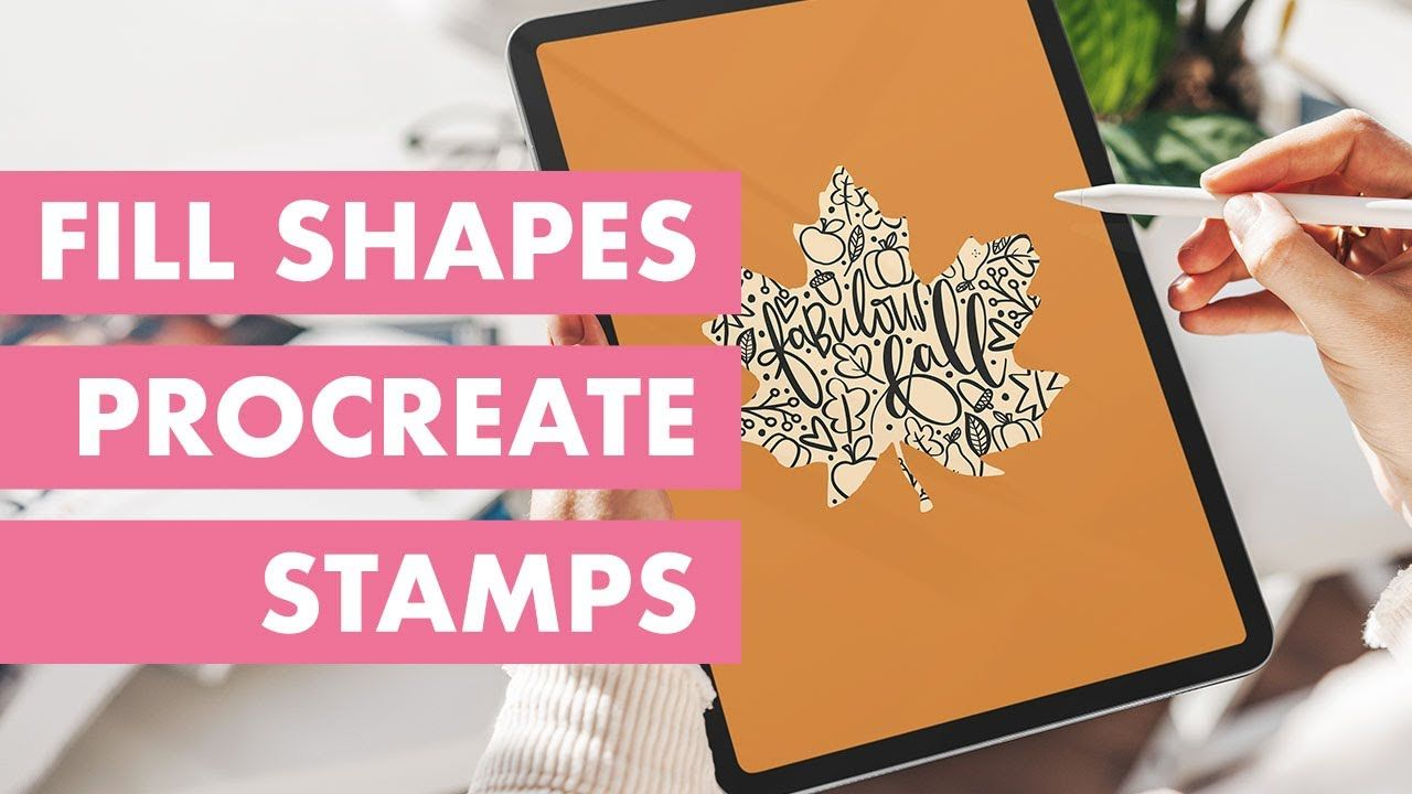 Procreate Tutorial How To Fill A Shape With Procreate Brush Stamps With Studio Kitsch Youtube In 2020 Procreate Tutorial Procreate Brushes Procreate Lettering