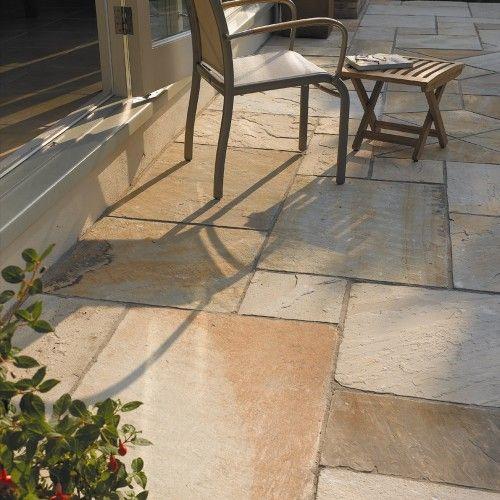 Flagstone Patio Off Deck