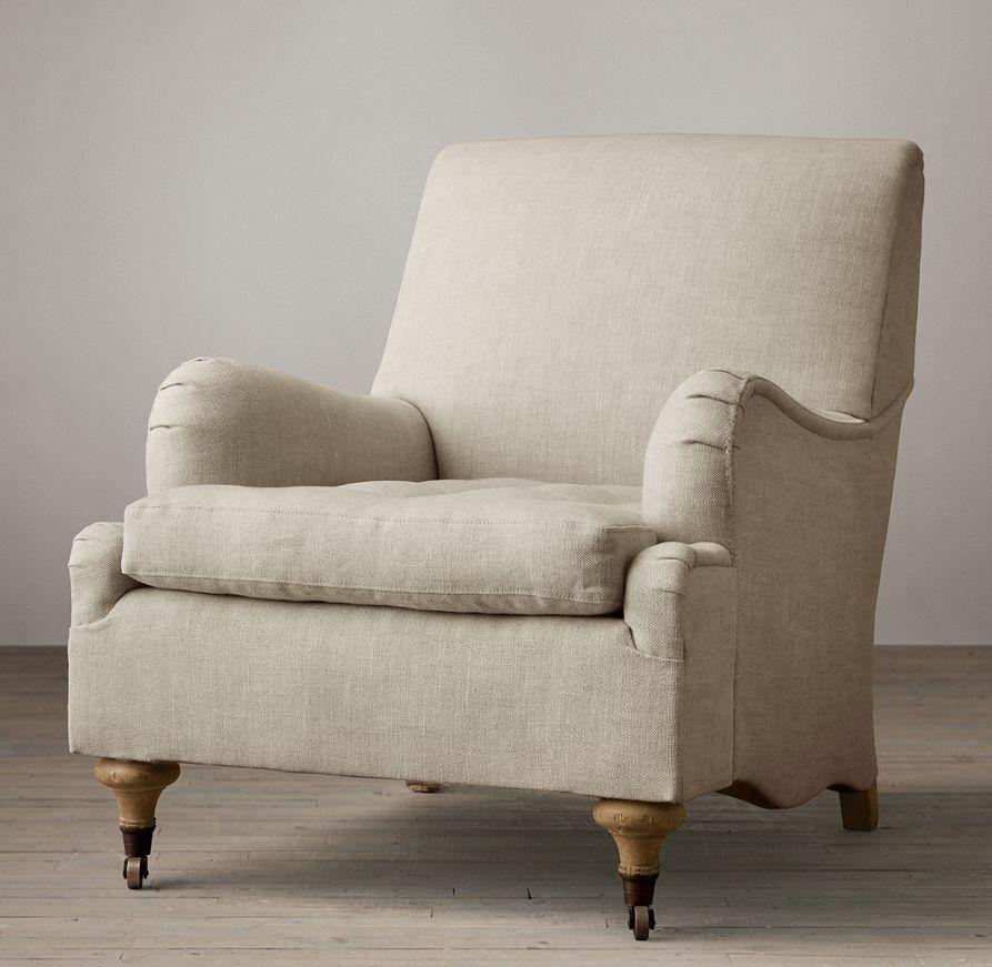 english roll arm chair slipcover