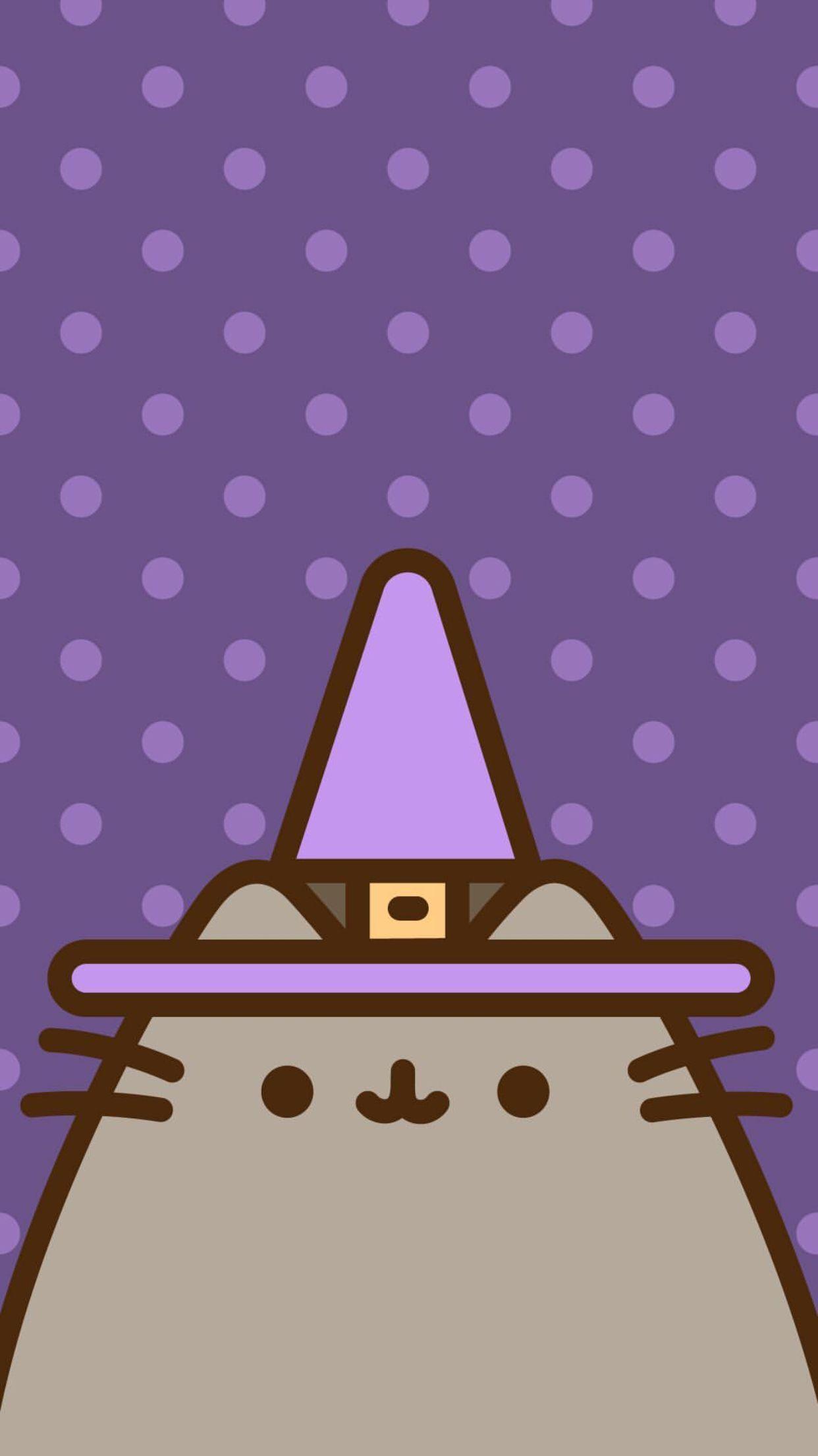 Pusheen Wallpaper Witch Wallpaper Pusheen Cat Halloween Wallpaper