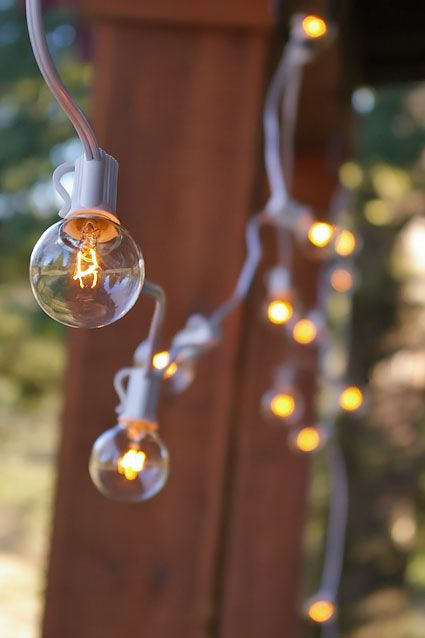 Globe String Lights, 1.5 Inch E12 Bulbs, 100 Foot White Wire C7 Strand, Clear Globe string ...