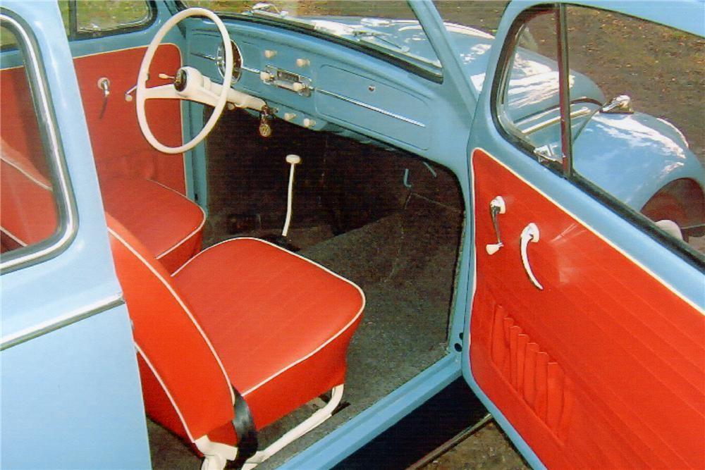 Unique Vw Bug Interior..love The White Steering Wheel