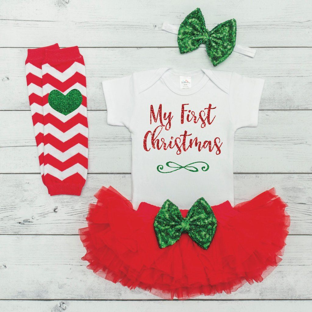 My First Christmas Outfit Baby Girl Christmas Outfit Baby Girl First