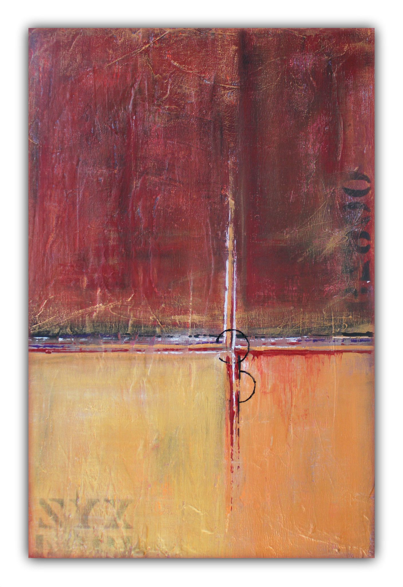 Cargo - Textured Painting - Red and Gold Wall Art ...