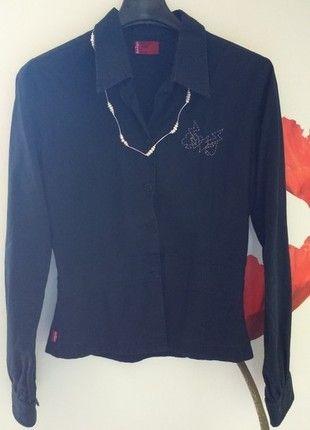 462fae7eac7a1 Elegancka koszula LEVIS czarna długi rękaw   KTO PIERWSZY TEN LEPSZY ...
