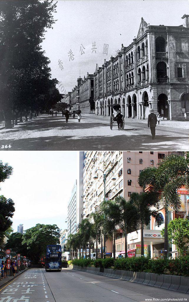 https://flic.kr/p/af5X6N | 尖沙咀 - 彌敦道、金馬倫道 交界  c.1910's | [ 新圖攝於 2011 ]