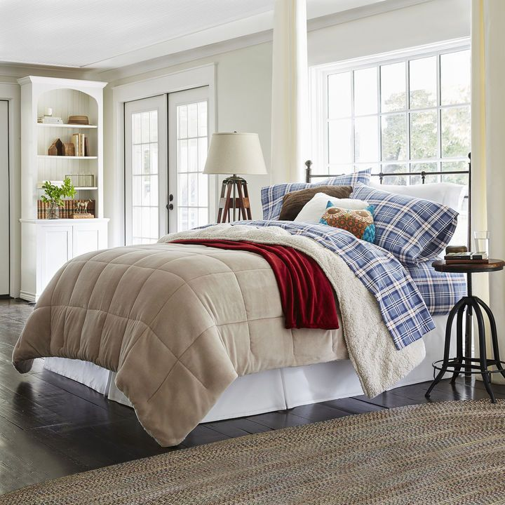 JCP HOME JCPenney HomeTM Faux Ultra Mink Fur and Sherpa Comforter ...