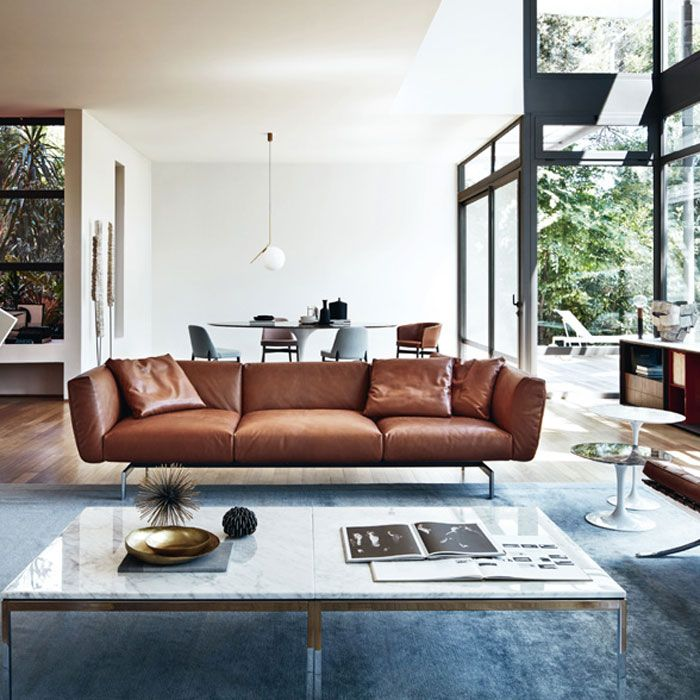 Art Nouveau Interior Design Ideas You Can Easily Adopt In: Knoll Avio Three Seater Sofa In 2020