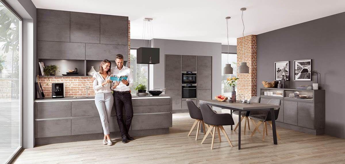 Beton-Küchen im Vergleich: Bilder von Nobilia, Alno, Nolte und ...