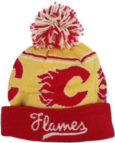 675ae634566 NHL Atlanta Flames CCM Cuffed Knit Hat With Pom