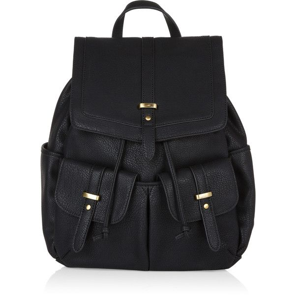 5fdda6670a81 Accessorize Tab PU Backpack (225 BRL) ❤ liked on Polyvore featuring bags