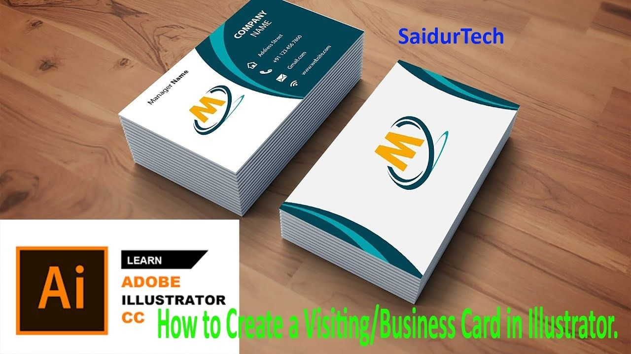 Making A Business Card In Illustrator In 2021 Business Cards Cards Illustration