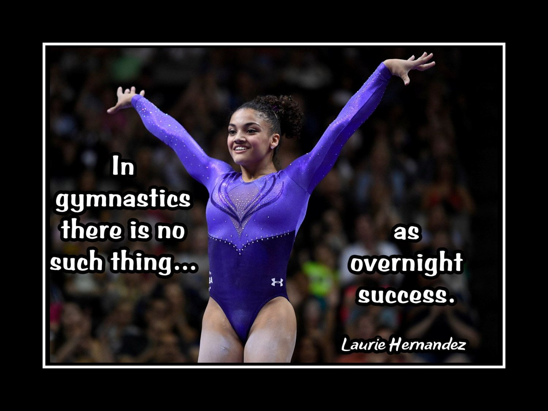 Gymnastics Motivation Poster Laurie Hernandez Photo Quote