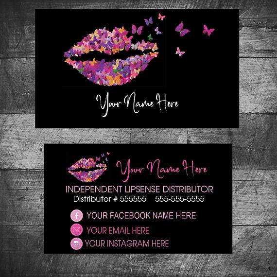 butterfly business card lipsense senegence business cards - Senegence Business Cards