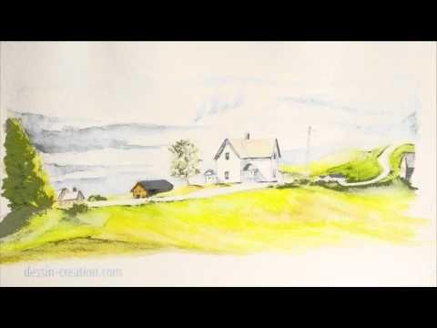 Apprendre A Dessiner Aux Crayons Aquarellables Youtube Dessin