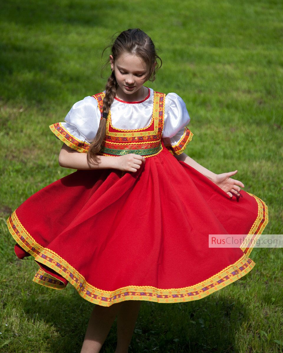 Russia Dress Girl, Historical Costume, Traditional