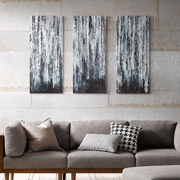 madison park 3 piece birch forest canvas wall art set on canvas wall art id=22935