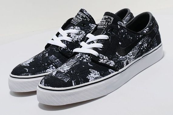 estilo popular artesanía exquisita zapatos para baratas nike sb stefan janoski black floral 01 Black Floral Nike SB Stefan ...