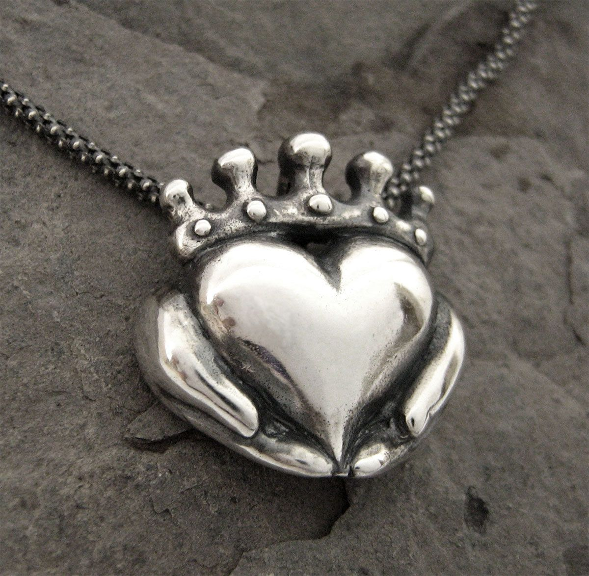 Handmade claddagh necklace ready to ship claddagh pendant handmade claddagh necklace ready to ship claddagh pendant sterling claddagh celtic jewelry irish promise pendant gift for her 12 aloadofball Choice Image