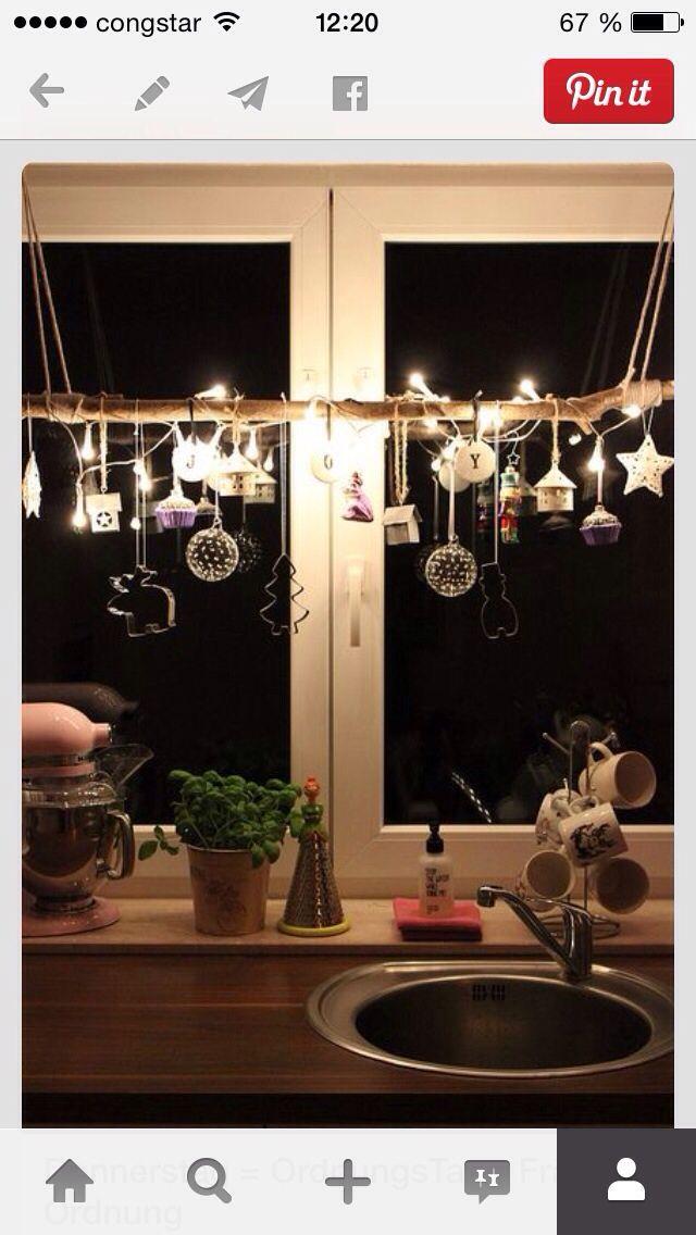 fensterdeko k che pinterest fensterdeko weihnachten und diy weihnachten. Black Bedroom Furniture Sets. Home Design Ideas
