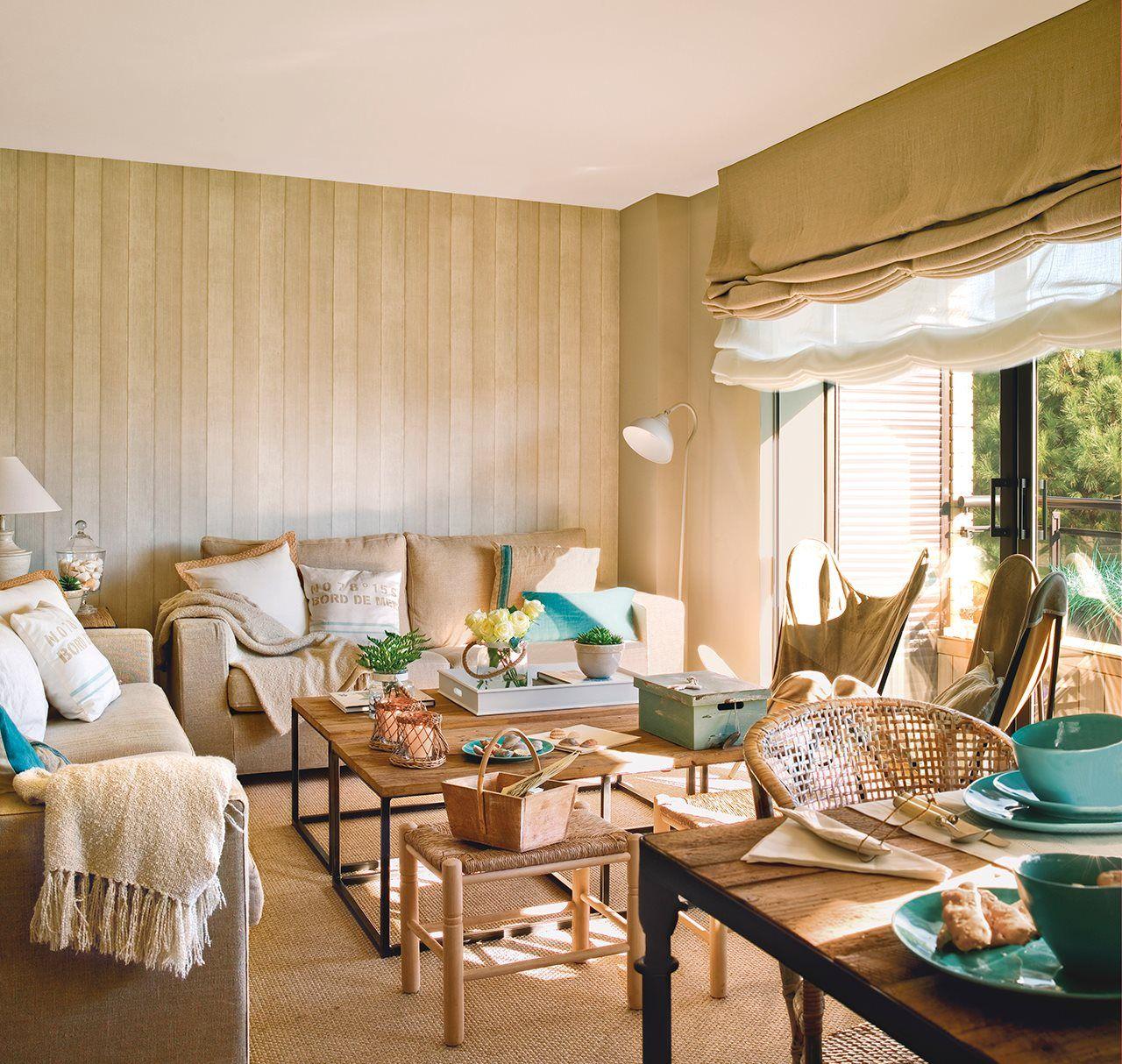 El sal n aprovechado pisos y playa - Salon piso pequeno ...