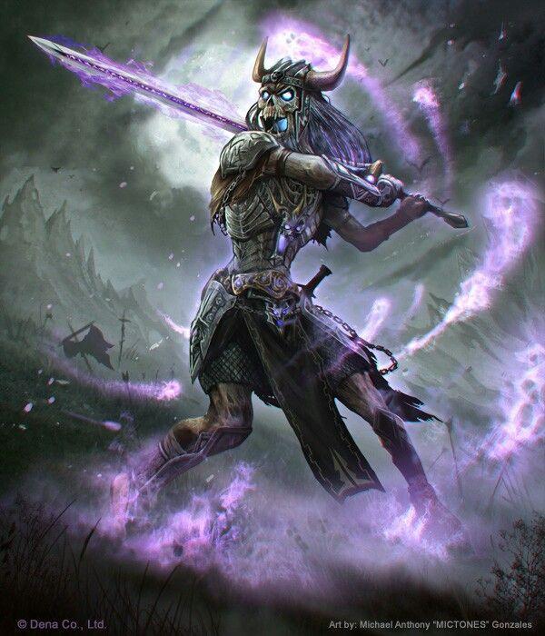 skull dark warlock 2 undead fantasy art fantasy fantasy warrior