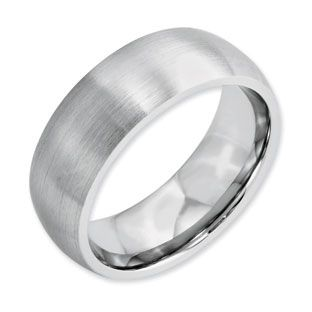 Men S 8mm Satin Finish Domed Cobalt Wedding Ring Available Exclusively At Gemologica