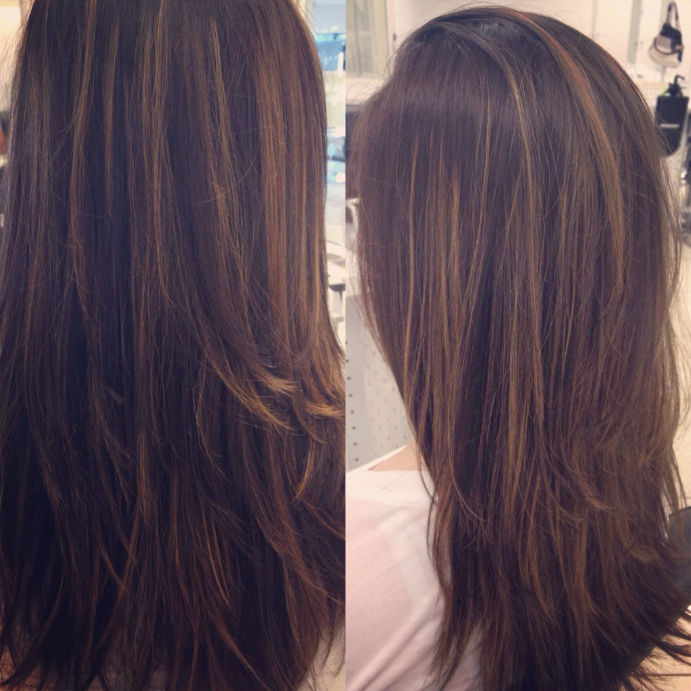 Pin By Brittany Gonzalez On Hair By Brittany Straight Hair Highlights Hair Carmel Hair