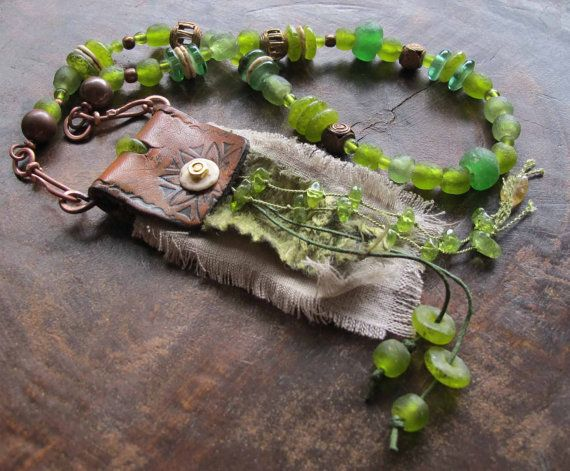 Magickal Ritual Sacred Tools:  Citrine & Peridot Amulet for Abundance, Good Fortune, and Prosperity, by Stregata.