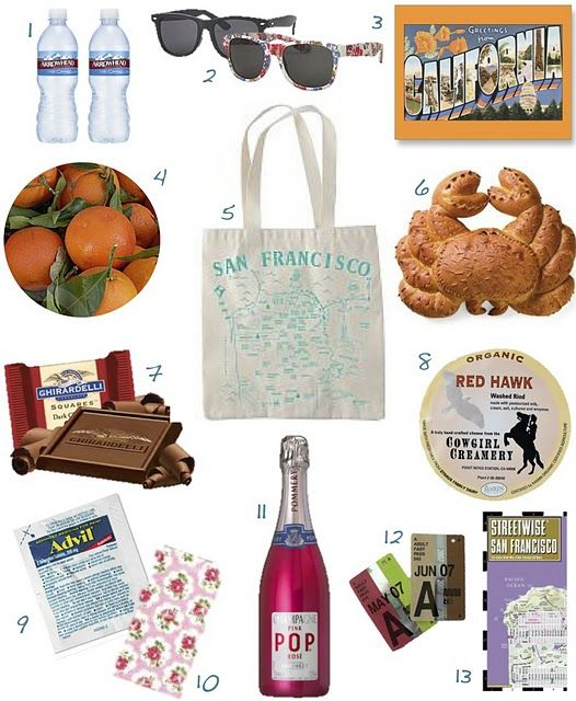 Gift Bag Ideas For Wedding Guests: Here Are Some Adorable Out-out-town Welcome Guest Bags For
