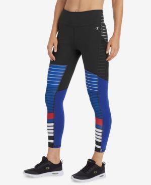 9a11752b92c5 Champion Double Dry Mesh-Inset Zip Ankle Leggings - Black XXL ...