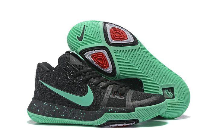 97036c63e9cf ... Nike Kyrie 3 Amazing Nike Kyrie 3 Black Mint Green Shoe For Cheap ...