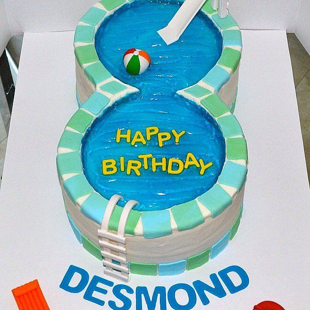 Cool 25 Pool Party Cakes That Make A Splash With Images Pool Party Funny Birthday Cards Online Inifodamsfinfo