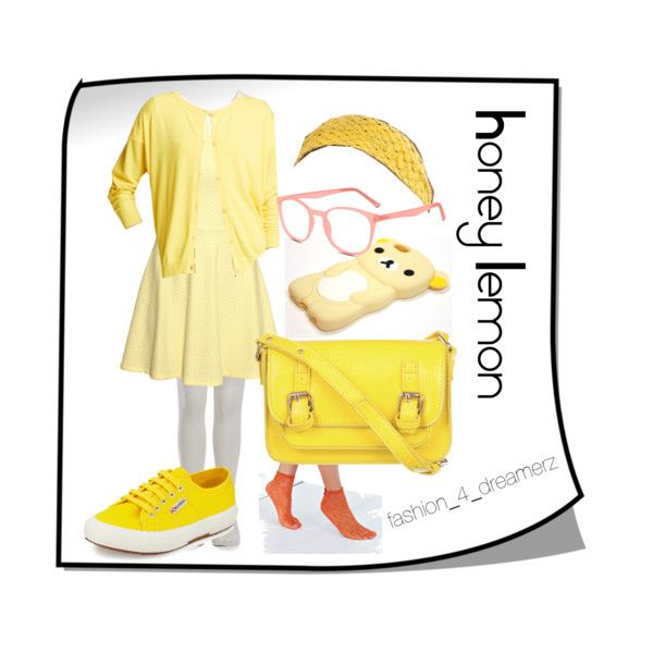 Honey Lemon by disneycraze6 on Polyvore featuring polyvore fashion style H&M Weekend Max Mara Sneaky Fox Superga SPURR GlassesUSA Falke