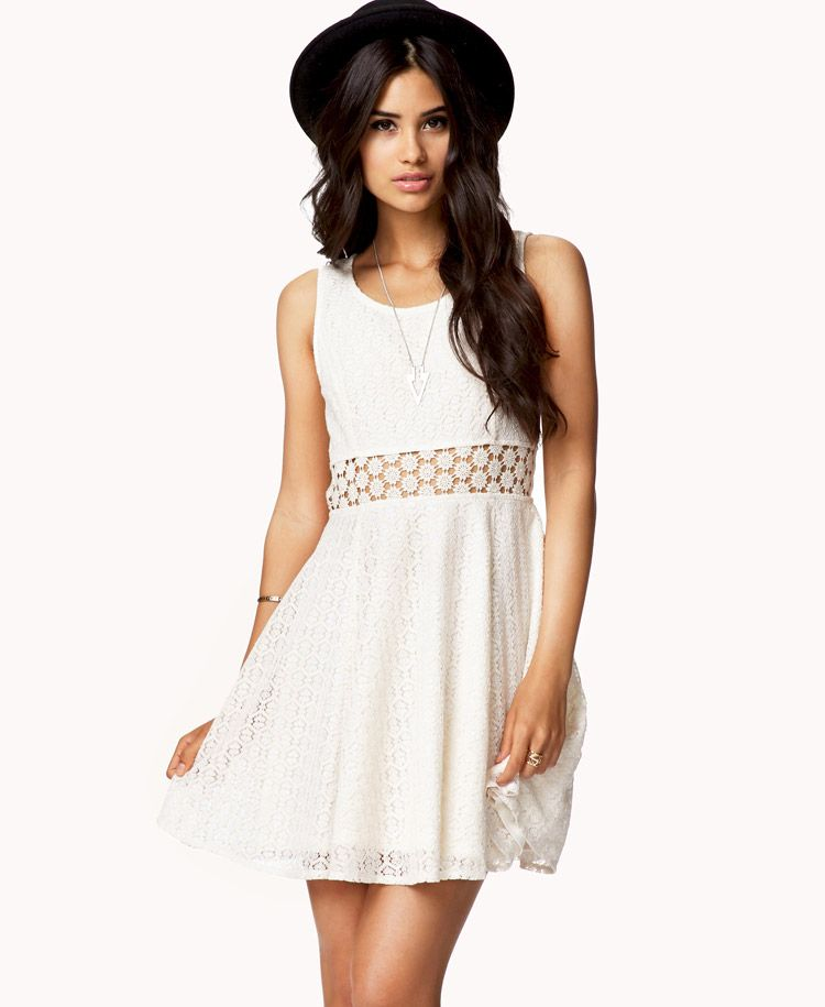 3768d699bb55 Crochet Panel Lace Dress