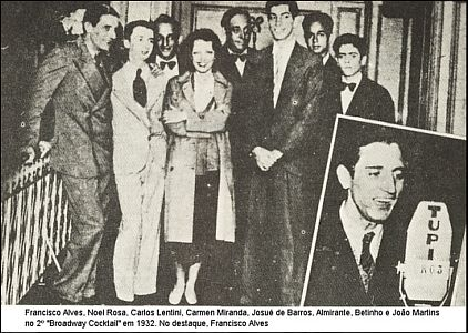 Os Inimigos Noel Rosa E Carmen Miranda Na Mesma Foto Entre