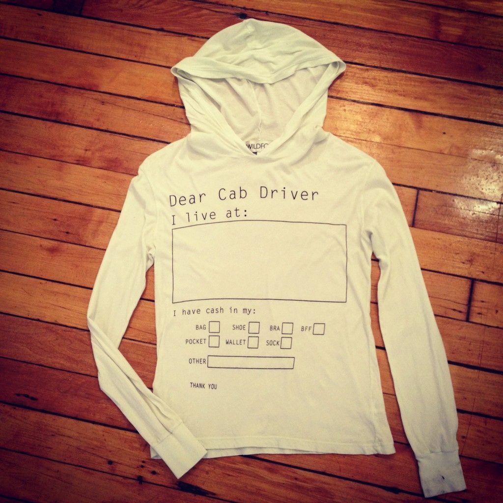 Drinking sweatshirt...