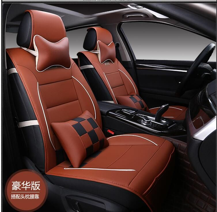 Luxury Leather Pu Leather Car Seat Covers Car 5 Seat Protection