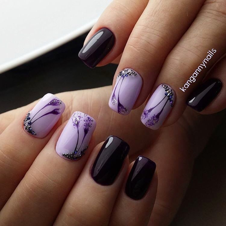 I should definitely try this, it\'s a nice color combo - #nails #nail ...